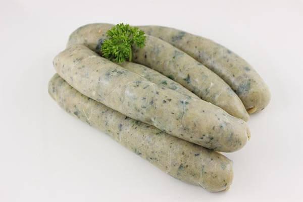 Chicken Spinach and Pine Nut Sausage